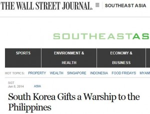 Capture WSJ Warship Philippines
