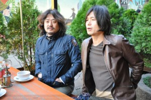 Capture Japan Times Kim & Choo Interview at Cafe