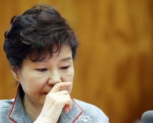 Capture Japan Times Park Geun Hye at the meeeting of Blue House
