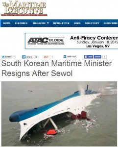 Capture Maritime Executive  inister Resign