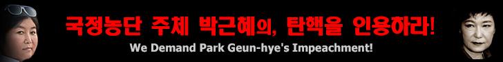 국정농단 주체 박근혜의, 탄핵을 인용하라!