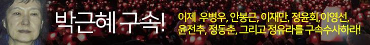 박근혜 구속, 이제 우병우, 안봉근, 이재만, 정윤회, 이영선, 윤전추, 정동춘, 그리고 정유라를 구속하라!